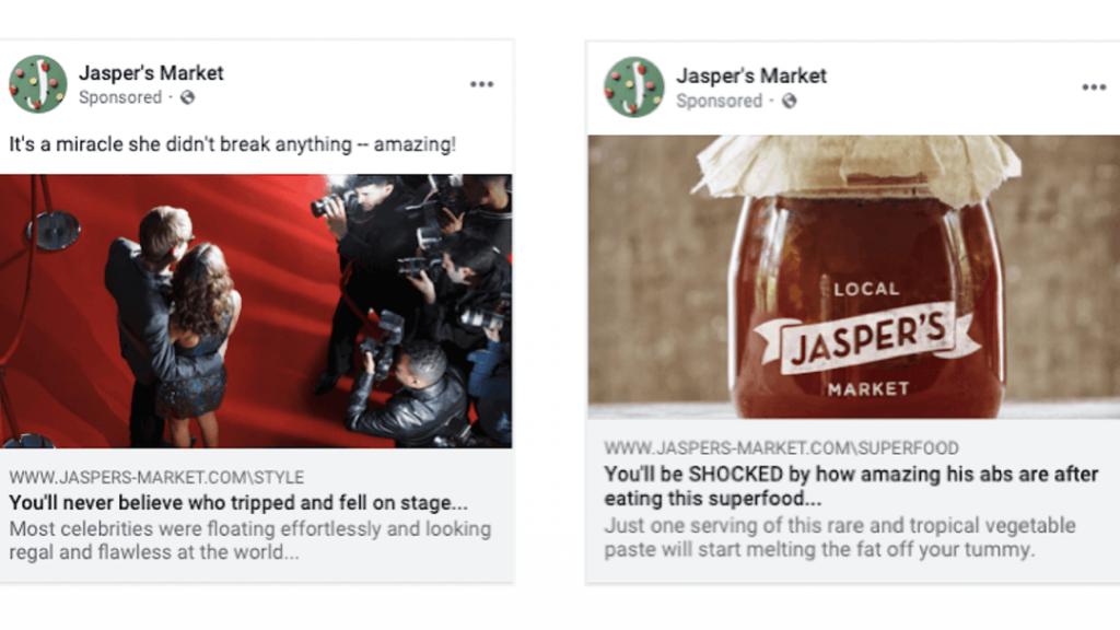 facebook clickbait content penalised