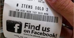 facebook page promotion receipt
