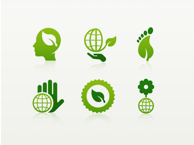 green marketing badges